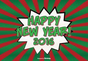 Illustrazione del fondo del nuovo anno di stile comico