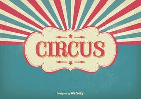 Illustrazione del circo d'epoca vettore