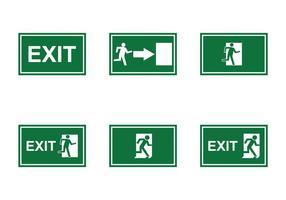 Vettore di segno di uscita di emergenza gratuita