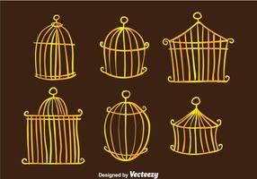 Vettori di gabbia per uccelli d'epoca d'oro