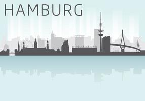 Vettore di Skyline di Amburgo