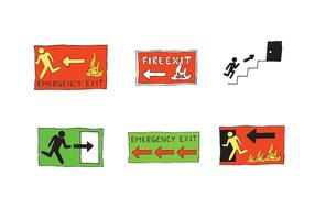 Uscita di emergenza gratuita Serie Vector SIgn