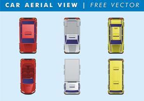 Vettore aereo di vista aerea dell'automobile