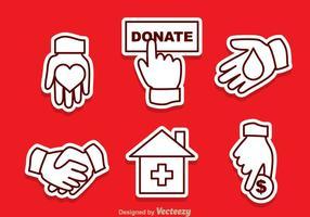 Donare icone vettoriali di contorno