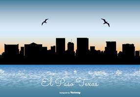 illustrazione di skyline di El Paso Texas vettore