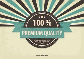 Retro illustrazione di qualità Premium promozionale vettore