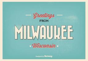 Retro illustrazione di saluto di Milwaukee