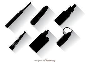 Icone nere di Vape vettore