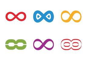Icona del ciclo infinito vettoriale