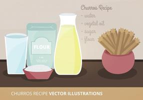 Churros Ricetta Vector Illustration