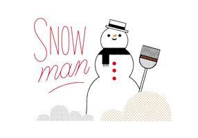 Vettore di pupazzo di neve gratis