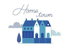 Vettore gratuito di Home Town