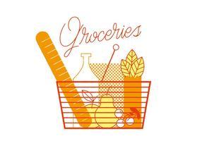 Vettore di generi alimentari