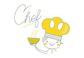 Chef vettoriale