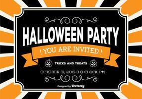 carta di festa di Halloween vettore