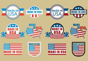 Made in USA Badge vettore