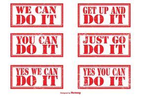 Set di timbro di gomma motivazionale vettore