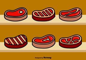 Illustrazioni di bistecca con l'osso