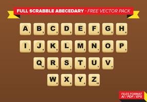 Pacchetto completo di Free Scrabble Abecedary Vector
