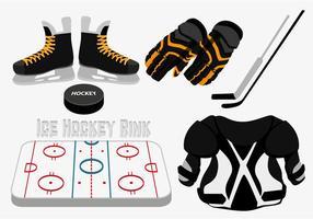 Vettore di pista di hockey su ghiaccio