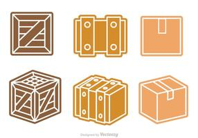 scatola e cassa vettoriale