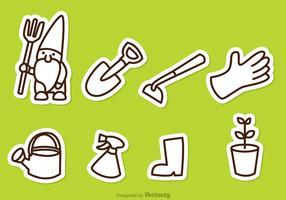 Icone di contorno di giardinaggio