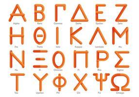 Vettore di alfabeto greco moderno