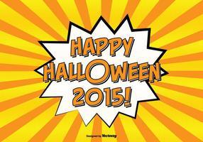 Illustrazione felice di Halloween di stile comico vettore