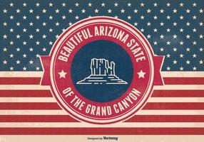 Retro illustrazione dello stato del Grand Canyon dell'Arizona