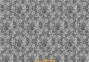 Modello astratto cerchio bianco e nero