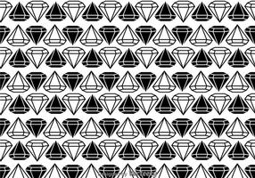 Modello di diamanti in bianco e nero vettore