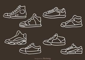 Icone di scarpe uomo vettoriale