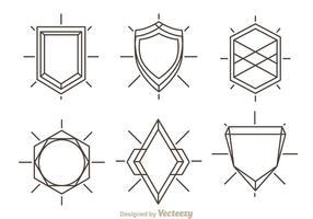 Forma di scudo contorno
