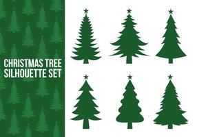 Vettori di sagoma albero di Natale