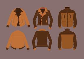 Vettori di giacca in pelle
