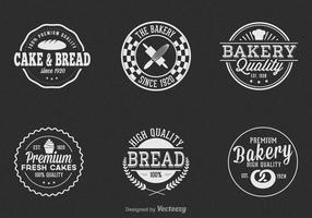 Set di etichette vettoriale vintage panetteria