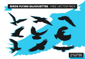 Uccelli che volano sagome vettoriali gratis Pack