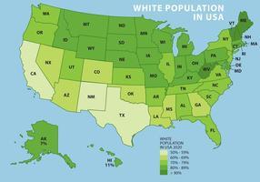 Popolazione bianca negli USA vettore