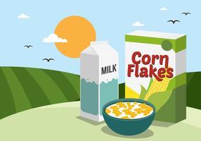 vettore di corn flakes