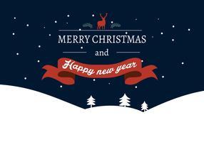 Felice anno nuovo lettering cartolina d'auguri, illustrazione vettoriale