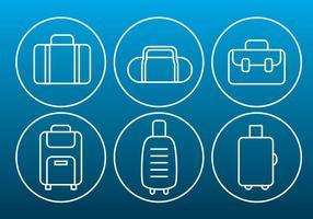 icone di sottile contorno di borsa vettoriale