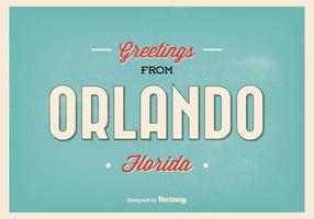 Illustrazione di saluto di Orlando Florida vettore