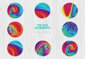 Tie Dye Vector Spheres