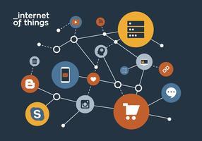 Internet Internet delle cose vettore