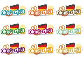 Distintivi di vettore dell'Oktoberfest