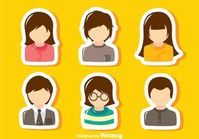 Set di avatar predefinito vettore