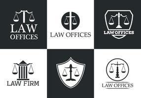 Raccolta di Logo di vettore dell'ufficio di legge