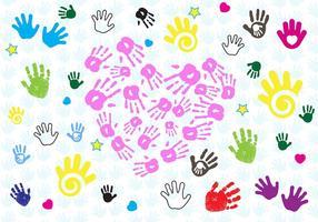 Vettore della mano della stampa del bambino