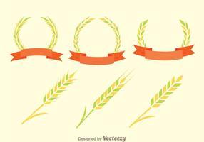Vettori di decorazione di spiga di grano