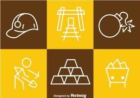 Icone di contorno di stagno miniera d'oro